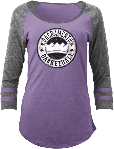 da3807f5 ... 50% off nba sacramento kings adult women ladies tri blend jersey 3 4  sleeve with