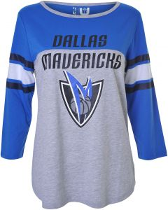 441a64e5d935 NBA Dallas Mavericks Women s T-Shirt Raglan Baseball 3 4 Long Sleeve Tee  Shirt