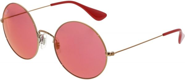 63101ee4892 Ray-Ban Women s Mirrored Ja-Jo RB3592-9035C8-55 Gold Round ...