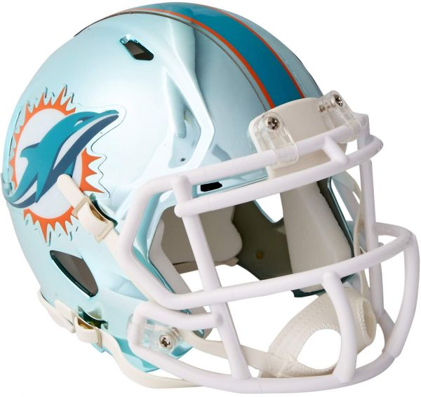33c7df66 Riddell Chrome Alternate NFL Speed Authentic Mini Size Helmet Miami Dolphins