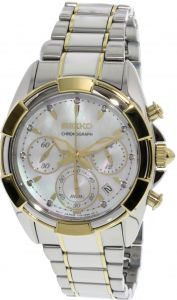 a56bf11a962d Seiko Women s SRW808 Silver Stainless-Steel Japanese Chronograph Fashion  Watch