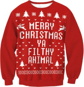 Christmas Autumn winter sweater printed Christmas round neck cotton hoodies  red s ec4f9c3e3