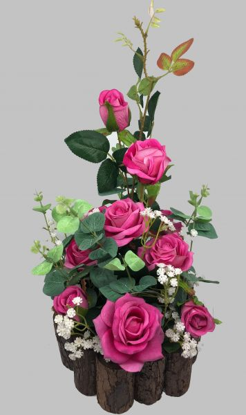 Greenpinkrosewhite Multicolor Artificial Rose Babybreath And