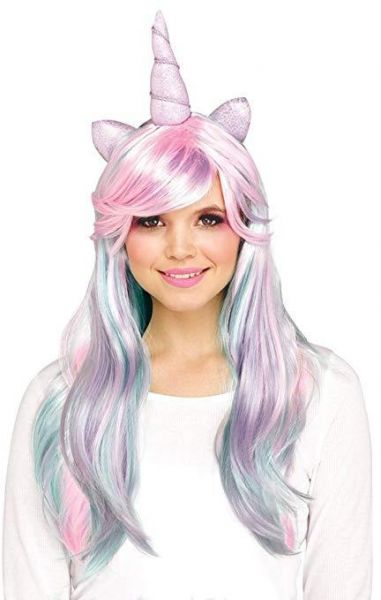 Halloween Costume 398.Halloween Cosplay Pastel Unicorn Wig Unicorn Wig Unicorn Horn And Ears Wig Fits Kids Girls