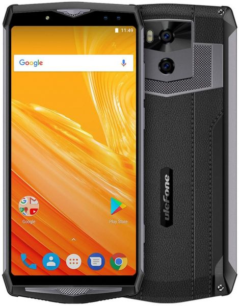 Ulefone Power 5, 6GB plus 64GB, Dual Back Cameras plus Dual Front Cameras, Face & Fingerprint Identification, 13000mAh Battery, 6 Inch, Android 8.1 OS MTK6763 Octa Core 2.0GHz , OTG, Network 4G