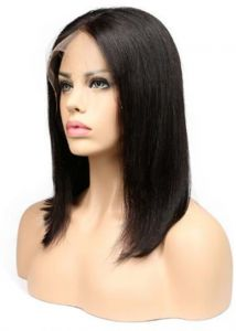 Lace Wigs Brazilian Lace Front Human Hair Wigs Human Hair Bob Wigs Remy Silky Straight Lace Front Wig Closure Wig 4*4 Inches Luxe Dive Human Hair Lace Wigs