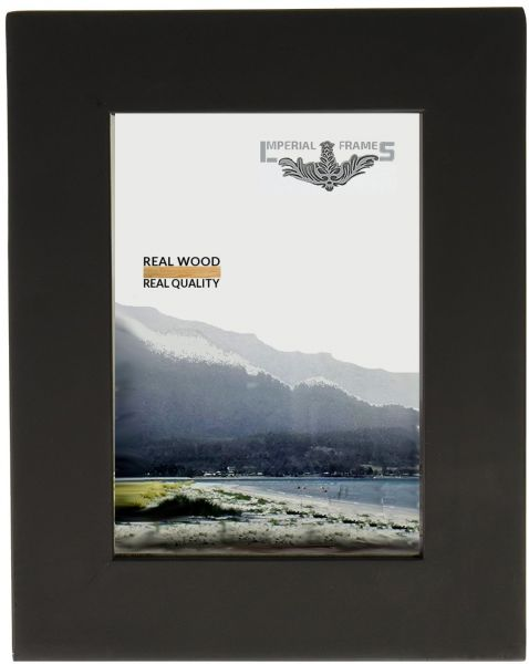Imperial Frames 6 By 8 Inch Picture Photo Frame Solid Wood Black