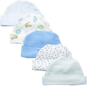 6637f122b4b Spasilk Baby-Boys Newborn 5 Pack Cotton Hats