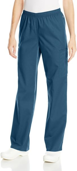 c03dbe4e87f Cherokee Women's WW Flex Mid-Rise Straight Leg Elastic Waist Scrub Pant,  Caribbean Blue, XXX-Large. by Cherokee, Uniform - 104 ratings