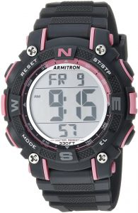 29f3d5569121 Armitron Sport Women s 45 7099PGY Pink Accented Digital Chronograph Grey  Resin Strap Watch