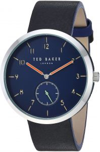 700cdf24a Ted Baker Men s  Josh  Quartz Stainless Steel and Leather Casual Watch