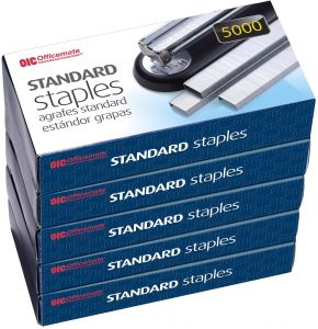 210 Sheet Capacity 0.9375-Inch Box of 1,000 91907 Officemate Heavy Duty Staples 100 per Strip