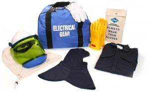 National Safety Apparel KIT2CV11NGBXL ArcGuard HRC 2 Arc Flash Kit with 12 cal//sq cm Ultra Soft Coverall and Balaclava Knit Hood X-Large Navy