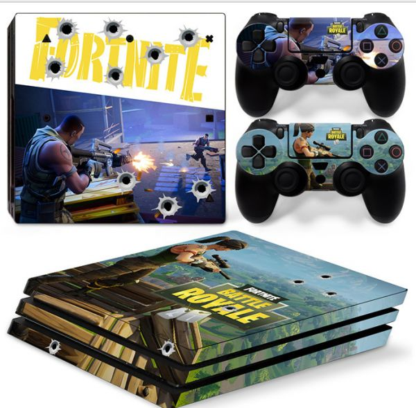 Fortnite Sticker Case Protector For PS4 Controller Skins 4 Console and 2  Controllers Skins For PS4 Stickers Decal mm