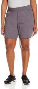 a4ed1c470e1 Just My Size Women s Plus Cotton Jersey Pull-On Shorts - 1X Plus - Charcoal  Heather