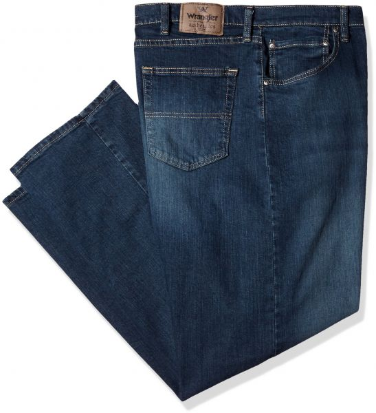 1cf3243b Wrangler Authentics Men's Big & Tall Classic Relaxed Fit Jean,Military Blue  Flex,46x30 | Souq - UAE