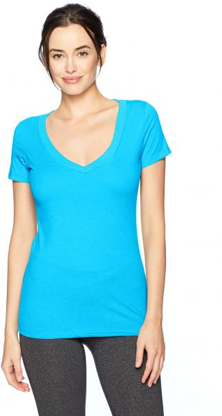 0462a4c6c5a4 Clementine Apparel Women's Soft Slim Fit Short Sleeves Deep V Neck T  Shirt,Small,Turquoise. by Clementine Apparel, Tops - 1 rating