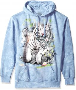 ab1ce4ea468f1 The Mountain White Tigers Bengal Adult Hoodie