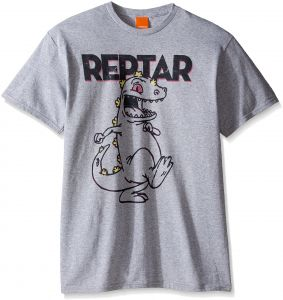 821fbbe8b Nickelodeon Men's Rugrats Reptar Marching T-Shirt, Sport Grey, X-Large
