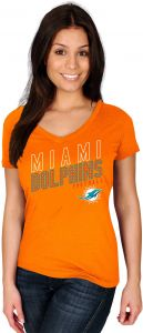 1c529ffff Profile Big   Tall NFL Miami Dolphins Adult Women NFL Plusdolphins S Cotton V  Neck Tee