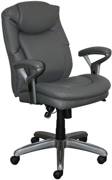 Serta Chr10052a Wellness By Design Office Chair Mid Back Gray