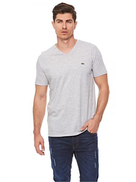 4e6b1c373f6 Lacoste T-Shirt for Men - Silver Grey Chine