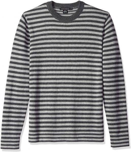 e65e8dafbe817 French Connection Men s Long Sleeve Stripe Crew Neck Sweater