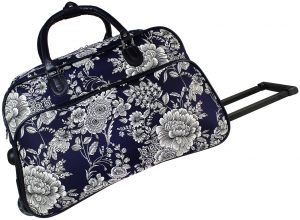 World Traveler 21-Inch Carry Bag Rolling Duffel, Navy White Flowers, One  Size cc497a8f0d