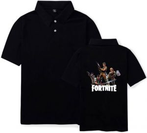 d2ba378eac1 Personality casual Fortnite games men and women summer cotton T-shirt short  sleeve high neck size L