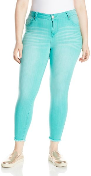 68966ddac2c70 Celebrity Pink Jeans Women s Plus Size Infinite Stretch Colored Fray ...