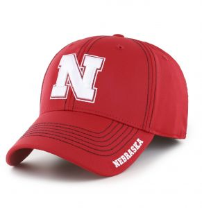 8452e1ddd22 OTS NCAA Nebraska Cornhuskers Adult Start Line Center Stretch Fit Hat