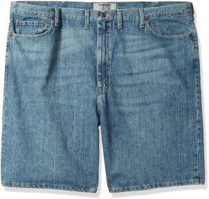 0f1299c2 Wrangler Authentics Men's Big and Tall Classic Relaxed Fit Five-Pocket Jean  Short, Maritime, 46