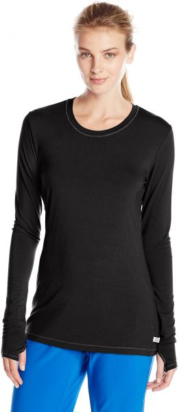70956f525c5 Cherokee Women's Infinity Long Sleeve Knit Underscrub Tee, Black, X-Small.  by Cherokee, Uniform - Be the first to rate this product