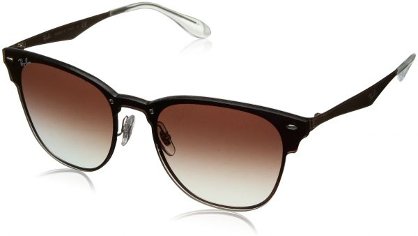 3e6322f07a6 Ray-Ban - RB3576N (Blaze Clubmaster) - Brushed Copper Frame-Clear Gradient  Red Mirror Red 47mm Lenses