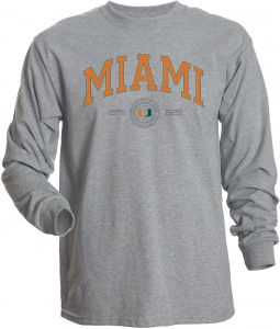NCAA Miami Hurricanes Men s Basic Long Sleeve Tee 2629b32a6767