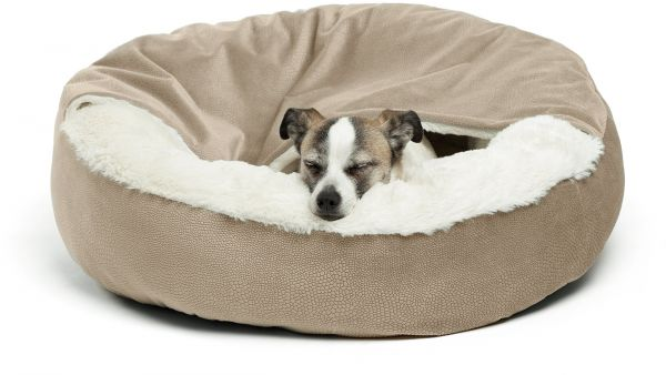 Best Friends By Sheri Cozy Cuddler Wheat Luxury Dog And Cat Bed With Blanket For Warmth Security Offers Head Neck Joint Support Machine