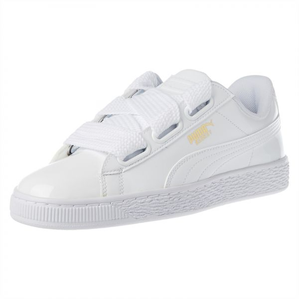 the latest 77736 71575 Puma Basket Heart Patent Running Shoes for Women (White - 39 EU)