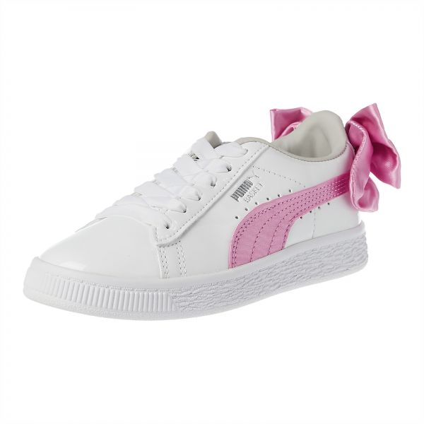 6e69d84497c504 Puma Basket Bow Patent AC PS Sneakers for Girls