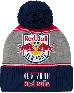 5978529731609 MLS New York Red Bulls Youth Boys Fan Cuffed Pom Hat