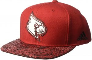 new product 3560a 860a9 NCAA Louisville Cardinals Adult Men White Noise Flat Brim Snapback, One  Size, Red