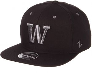 29eaac908de Zephyr NCAA Washington Huskies Men s Z11 Ebony Snapback Cap