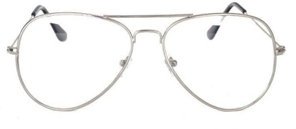 43a7895e141 Oversized Aviator Flat Glasses Men Women Metal Frame Clear Lens ...