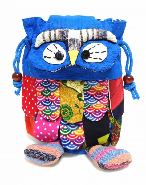 Blue Owl Favor And Return Gift Bag Birthday Party Size 20 Cm X
