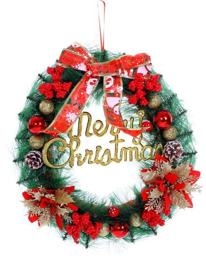 Christmas Wreath For Front Door Outdoor Hanger Decorative Garland