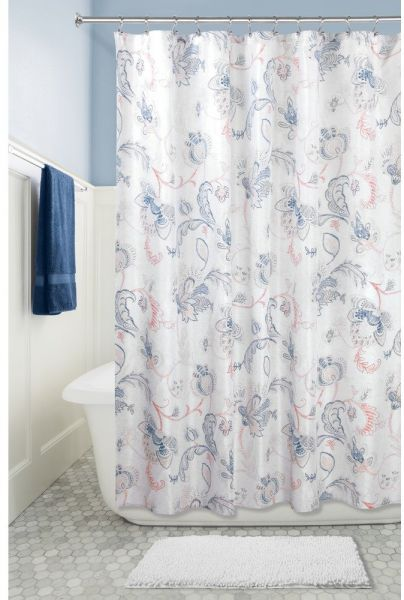 InterDesign Shelby Fabric Shower Curtain 72 X
