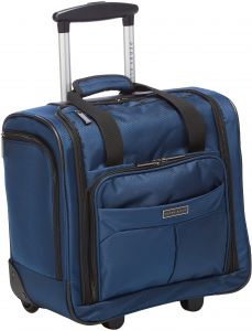 0261d482df1c Perry Ellis Men s Excess 9-Pocket Underseat Rolling Carry-on Bag Travel  Tote
