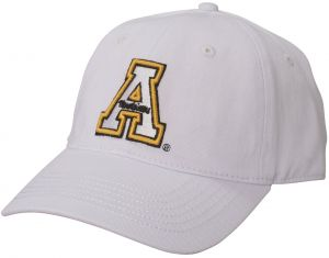 newest 19eae b7263 Ouray Sportswear NCAA Appalachian State Mountaineers Epic Washed Twill Cap, Adjustable  Size, White