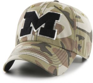 newest f6ba9 4508f NCAA Michigan Wolverines Women s Sparkle Camo Clean Up Hat, Women s, Faded  Camo