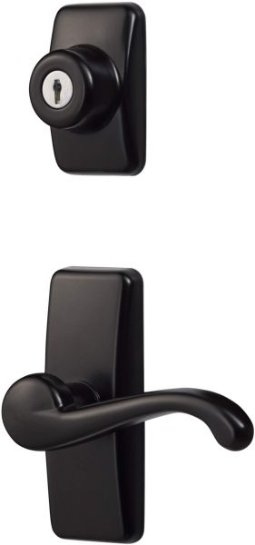 Ideal Security Gl Lever Set For Storm And Screen Doors With Keyed Deadbolt Black Souq Uae