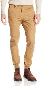 Men's Legacy Stretch Twill Jogger Pant with Water Resistant Coat, Tan, 36